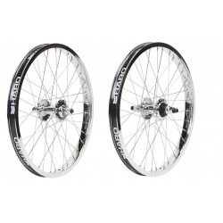 HARO LINEAGE HP WHEEL SET 36 CHROME SEALED WHEELS PEREGRINE SUPER PROS