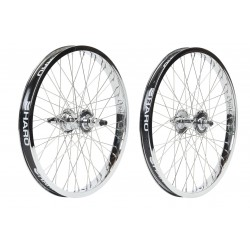 HARO LINEAGE HP WHEEL SET 48 CHROME SEALED WHEELS PEREGRINE SUPER PROS