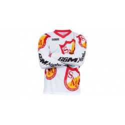 S&M BIKES RETRO OG JERSEY YOUTH LARGE WHITE SHIELD