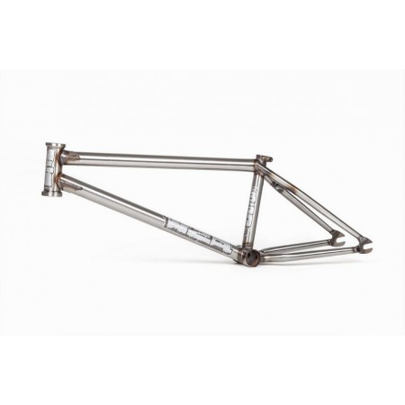 BSD WZA V4 21.1 CLEAR COAT RAW MIKE TAYLOR BMX BIKE FRAME
