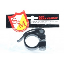 S&M BIKES QUICK RELEASE SEAT POST CLAMP BLACK SPEEDWAGON 30 MM ID 27.2