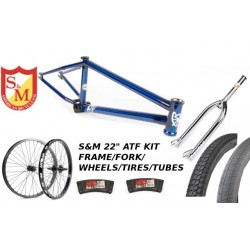"S&M 22 INCH ATF FRAME 21.625 TRANS BLUE CHROME 22"" KIT"