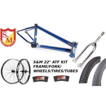 "S&M 22 INCH ATF FRAME 22.125 TRANS BLUE CHROME 22"" KIT"