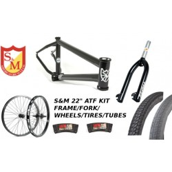 "S&M 22 INCH ATF FRAME 21.625 FLAT BLACK 22"" KIT"