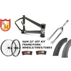 "S&M 22 INCH ATF FRAME 21.625 FLAT BLACK CHROME 22"" KIT"
