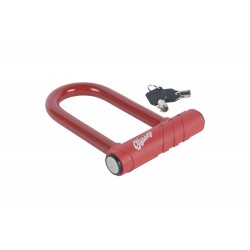 ODYSSEY BMX Slugger BIKE LOCK Aluminum U-Lock RED (120mm x 55mm)