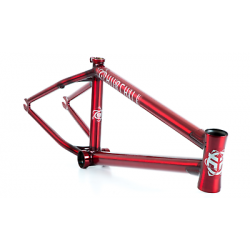 FEDERAL BIKE STEVIE CHURCHILL V2 BMX FRAME TRANS CLEAR RED 20.6