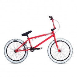 2019 STOLEN BRAND STEREO 20.75 MATTE RED W WHITE BLACK BMX BIKE