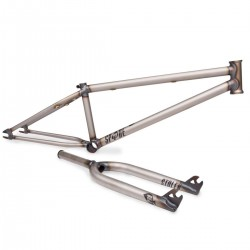 "STOLEN BMX 22 INCH SPADE FRAME FORK KIT POLISHED RAW 22"" 22.25"
