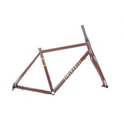 FAIRDALE BIKES ROCKITSHIP Frame and ENVE CX Fork Kit CHOCOLATE BROWN 58CM