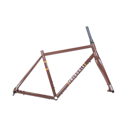 FAIRDALE BIKES ROCKITSHIP Frame and ENVE CX Fork Kit CHOCOLATE BROWN 54CM