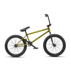 WE THE PEOPLE 2019 JUSTICE 20.75 MATTE TRANS YELLOW COMPLETE BMX BIKE