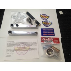 PROFILE BMX RACING 40th ANNIVERSARY 180 VINTAGE BOX CRANKS CHROME 40 CRANK RETRO