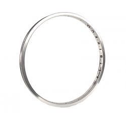 FIT BIKES 20 INCH POLISHED SILVER ARC WELDED RIM