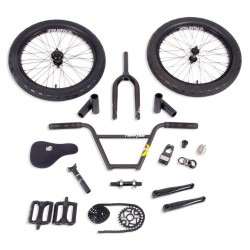 STOLEN BRAND BMX COMPLETE BIKE BUILD KIT FREECOASTER LHD BLACK