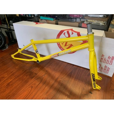S&M BIKES STEEL PANTHER RACE FRAME YELLOW 20.75 FORK KIT