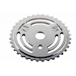 S&M DRAIN MAN POLISHED SILVER 28 TOOTH CHAINWHEEL BMX BIKE SPROCKET