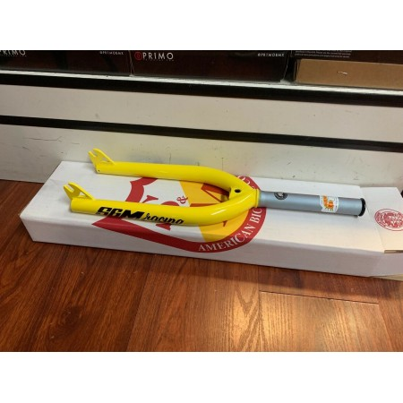 S&M TAPERED RACE XLT FORK YELLOW 20 3/8 10MM
