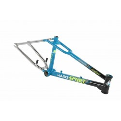 HARO 2017 SPORT LINEAGE FRAME 20.75 BLACK TEAL CHROME 1987 BMX RETRO old