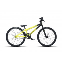 2019 RADIO RACELINE COLBALT MINI 17.5 BLACK YELLOW COMPLETE BMX RACE BIKE