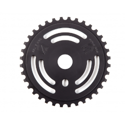 S&M DRAIN MAN SPROCKET BLACK 36 TOOTH BMX BIKE CHAINWHEEL