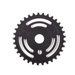 S&M DRAIN MAN SPROCKET BLACK 33 TOOTH BMX BIKE CHAINWHEEL