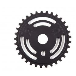 S&M DRAIN MAN SPROCKET BLACK 30 TOOTH BMX BIKE CHAINWHEEL