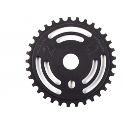 S&M DRAIN MAN SPROCKET BLACK 28 TOOTH BMX BIKE CHAINWHEEL