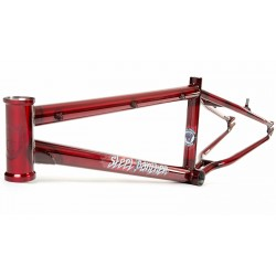 S&M BIKES STEEL PANTHER RACE FRAME TRANS CANDY RED  21.75