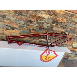 S&M BIKES 24 INCH STEEL PANTHER RACE FRAME TRANS CANDY RED 22