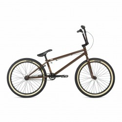 2020 STOLEN BRAND SPADE 22 DARK CHOCOLATE W/ COPPER 22.25 COMPLETE BMX BIKE
