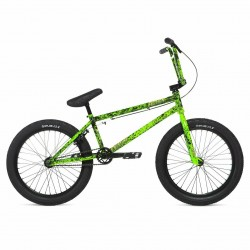 2020 STOLEN CREATURE FICTION 21 TOXIC GREEN BLACK SPLATTER COMPLETE BMX BIKE