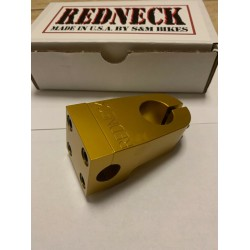 S&M RETRO REISSUE REPOP REDNECK CLAMP ON 1 1/8 STEM GOLD