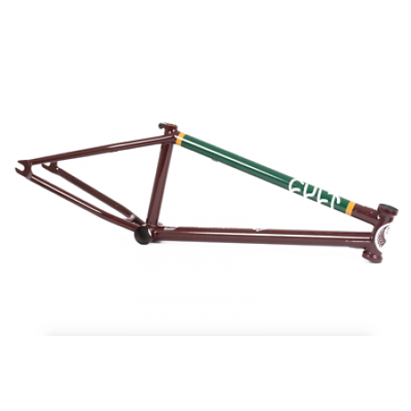 CULT CREW DAK EAGLE 20.75 BURGANDY DAKOTA ROCHE SIGNATURE BMX BIKE FRAME