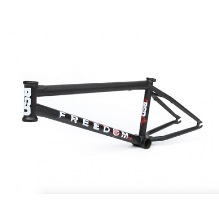 BSD FREEDOM 20.8 FLAT BLACK KRISS KYLE SIG BMX BIKE FRAME