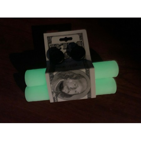 S&M BIKES HODER BMX GRIPS GLOW IN THE DARK BTM