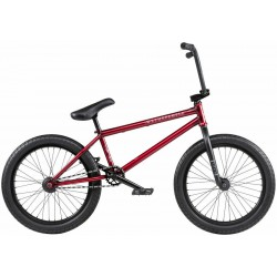 2020 WE THE PEOPLE JUSTICE 20.75 MATTE TRANS RED COMPLETE BMX BIKE