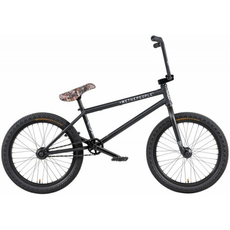 2020 WE THE PEOPLE CRYSIS 20.5 MATTE BLACK COMPLETE BMX BIKE