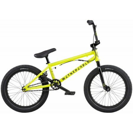 2020 WE THE PEOPLE CRS FS 18 METALLIC YELLOW COMPLETE BMX BIKE
