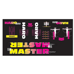 HARO RETRO 1989 FREESTYLE TEAM MASTER FRAME STICKERS BLACK