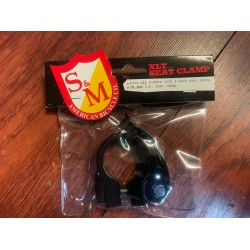 S&M BIKES 28.6 QUICK RELEASE SEAT POST CLAMP BLACK 25.4