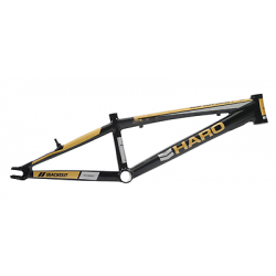 "HARO BLACKOUT PTC PRO XL PLUS 21.25 RACE FRAME BLACK GOLD 21.25"" BIKE BMX"
