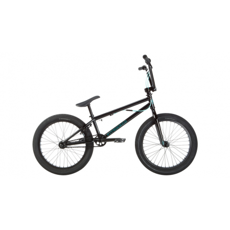 "2019 FIT BIKE CO PRK 20 BLACK COMPLETE BMX BIKE 20"" 20 INCHES S&M PARK GYRO"