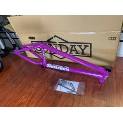 "SUNDAY BIKES SOUNDWAVE V3 21 FRAME CANDY PURPLE SOUND WAVE BMX 21"" V 3"