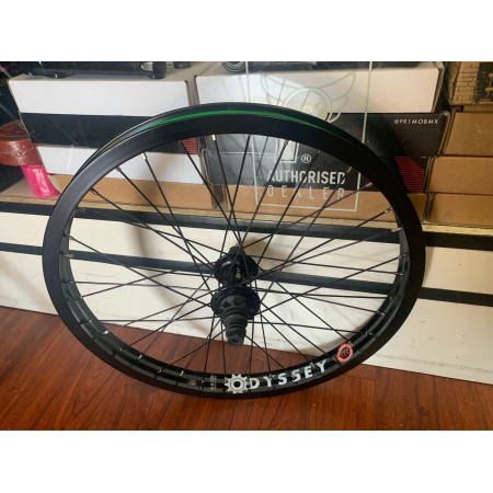 ODYSSEY BMX Q1 REAR COMPLETE WHEEL HAZARD LITE RHD BLACK RIGHT Quartet BMX