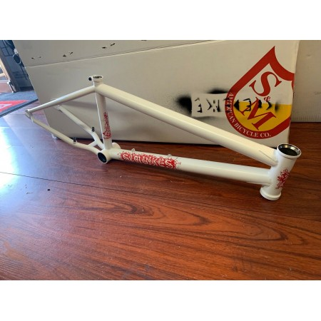"S&M CREDENCE BLACK MAGIC FRAME GHOST WHITE 21.25 AQUIZAP BMX BIKE 21.25"" CCR"
