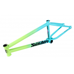 "SUNDAY BIKES STREET SWEEPER 21 MATTE FADE GREEN BLUE BMX BIKE FRAME 21"" RAINBOW"