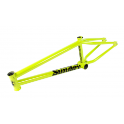 "SUNDAY BIKES PARK RANGER 20.75 GLOSS BRIGHT YELLOW BMX BIKE FRAME 20.75"" TOTAL"