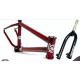 "S&M 22 INCH ATF FRAME FORK KIT 22.125 TRANS RED  BMX BIKE 22""  22 INCH 22.125"""