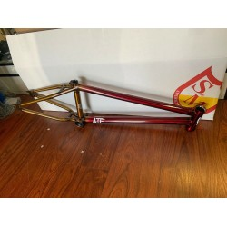 """S&M BIKES ATF FRAME TRANS RED TO GOLD FADE 20.75 INCH TT """" BMX  20.75"""" 10 YEAR"""